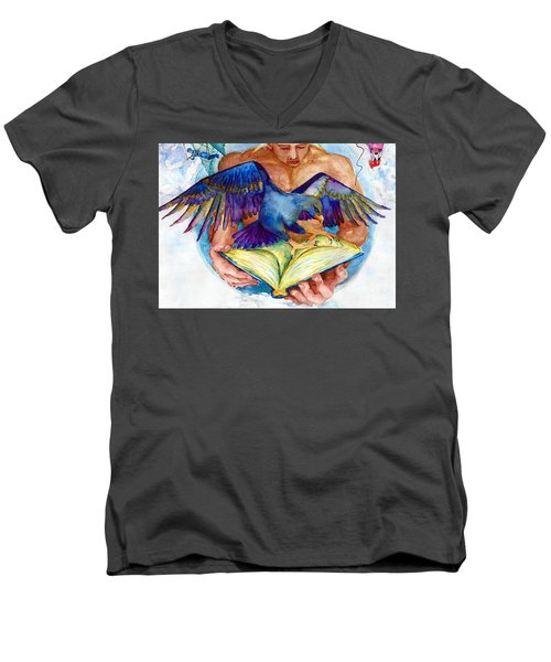 Inspiration Spreads Its Wings Men's V-Neck T-Shirt