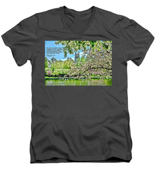Inspirational - Cherry Blossoms Men's V-Neck T-Shirt
