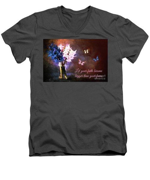 Inspirational Flower Art Men's V-Neck T-Shirt