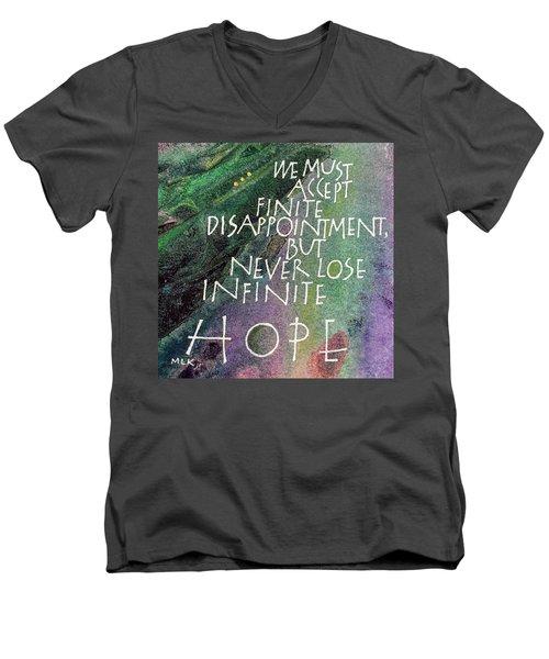 Inspirational Saying Hope Men's V-Neck T-Shirt