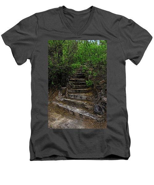 Men's V-Neck T-Shirt featuring the photograph Instep With Nature V53 by Mark Myhaver