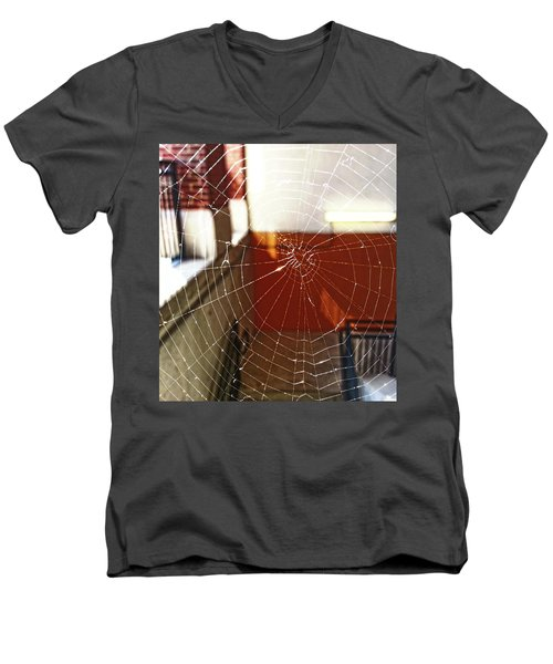 Men's V-Neck T-Shirt featuring the photograph Intact Abandonment by Robert Knight