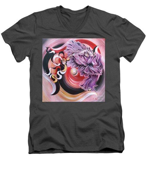 Gentle Spirit  Integrated Force Men's V-Neck T-Shirt