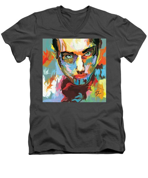 Intense Face 2 Men's V-Neck T-Shirt