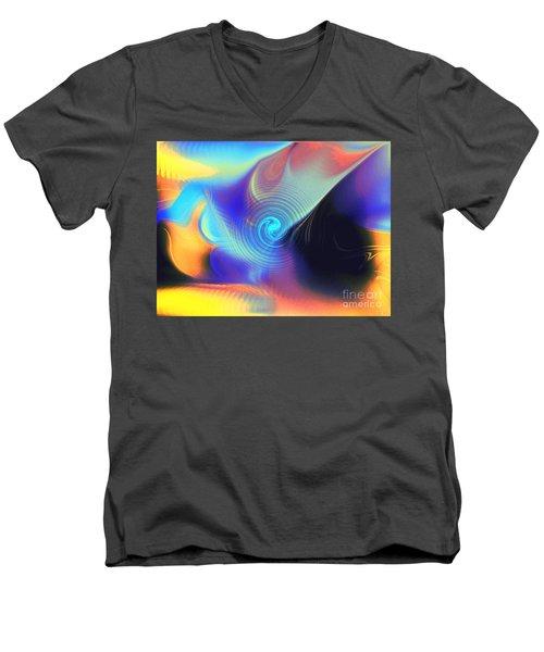 Intensity Vs Energy Men's V-Neck T-Shirt by Yul Olaivar