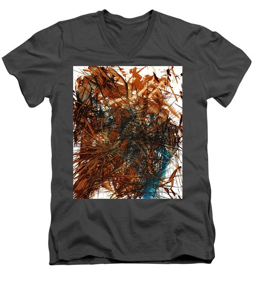 Intensive Abstract Expressionism Series 46.0710 Men's V-Neck T-Shirt by Kris Haas
