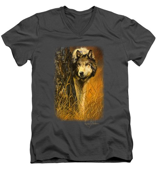 Interested Men's V-Neck T-Shirt by Lucie Bilodeau