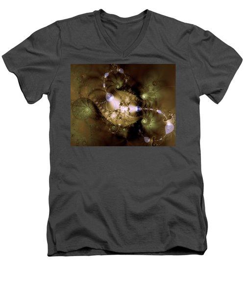 Intergalactica Men's V-Neck T-Shirt by Casey Kotas