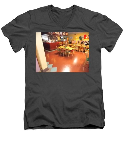 Interior Restaurant Men's V-Neck T-Shirt