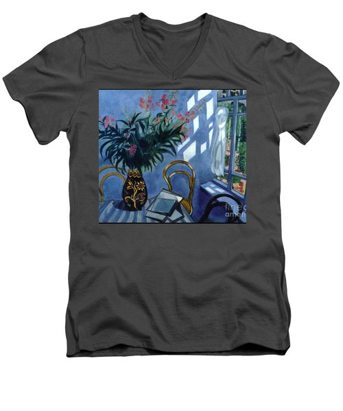 Interior With Flowers Men's V-Neck T-Shirt