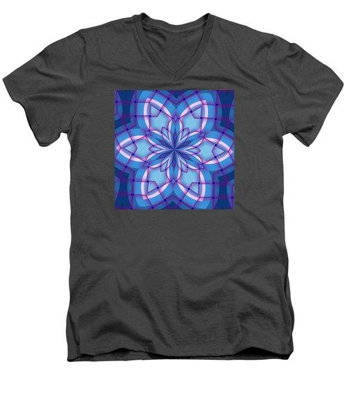 Interlaced Men's V-Neck T-Shirt
