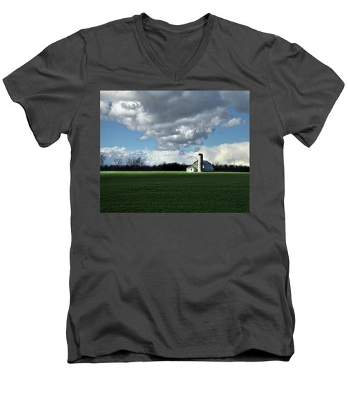 Men's V-Neck T-Shirt featuring the photograph Interlude by Robert Geary