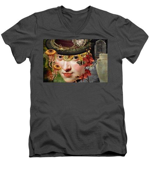 Internal Warfare Men's V-Neck T-Shirt by Ally White