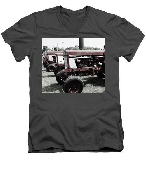 Men's V-Neck T-Shirt featuring the photograph International Line Up by Meagan  Visser