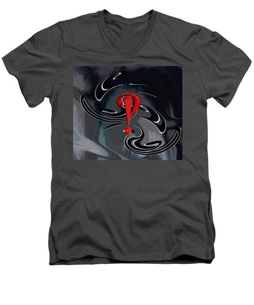 Interrobang First Men's V-Neck T-Shirt by rd Erickson
