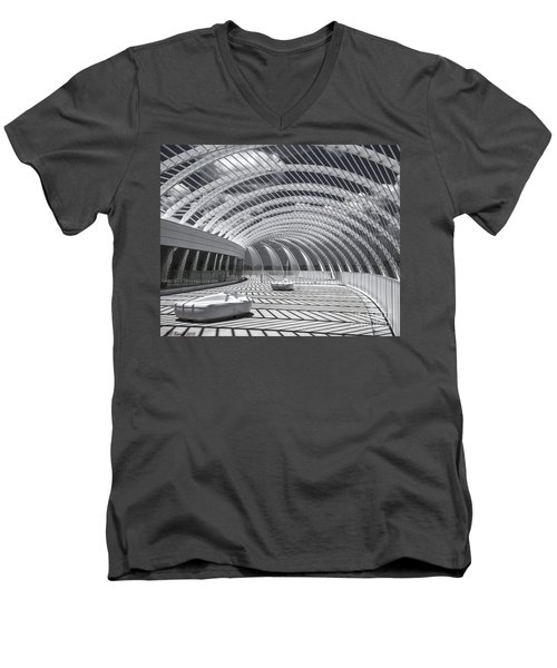 Intersecting Lines Men's V-Neck T-Shirt