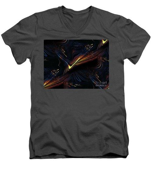 Meditative Vision Men's V-Neck T-Shirt by Yul Olaivar