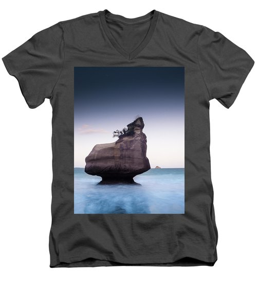 Into The Blue Men's V-Neck T-Shirt by Alex Conu