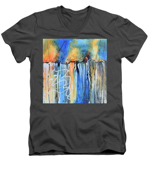 Into The Earth Men's V-Neck T-Shirt by Nancy Jolley