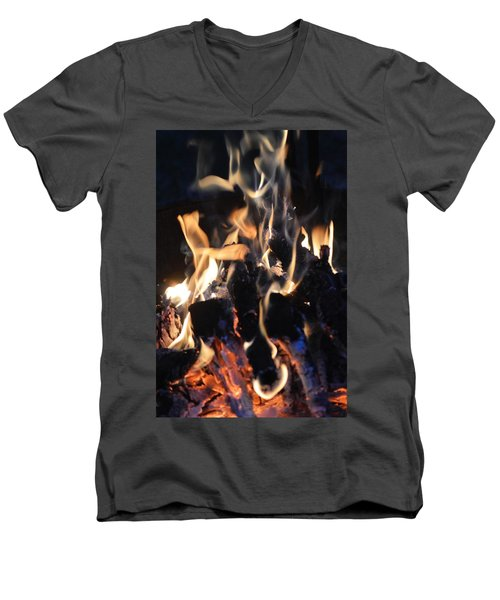 Into The Fire Men's V-Neck T-Shirt