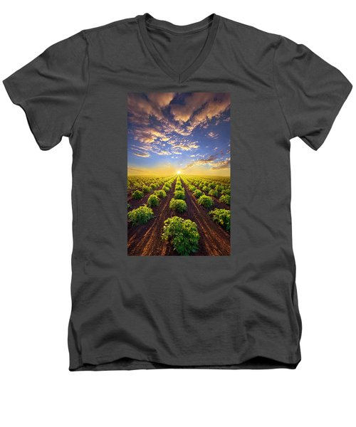 Into The Future Men's V-Neck T-Shirt by Phil Koch
