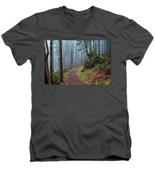 Into The Misty Forest Men's V-Neck T-Shirt