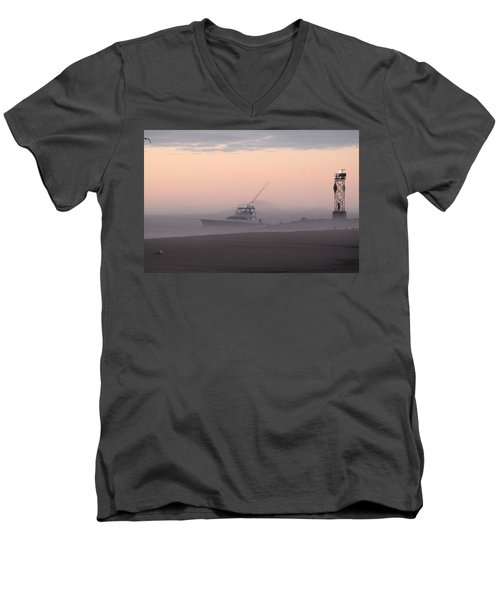 Into The Pink Fog Men's V-Neck T-Shirt