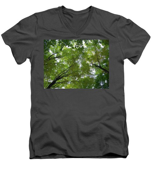 Men's V-Neck T-Shirt featuring the photograph Into The Trees by Michael  TMAD Finney