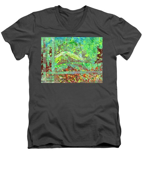 Into The Woods-through The Looking Glass Men's V-Neck T-Shirt