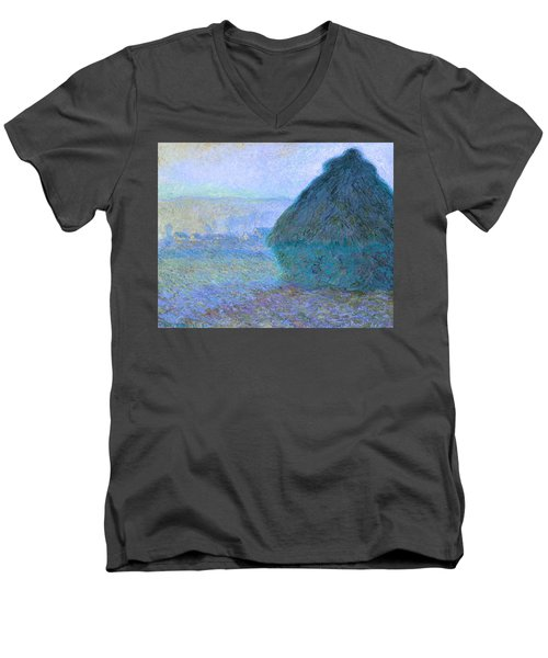 Inv Blend 21 Monet Men's V-Neck T-Shirt by David Bridburg