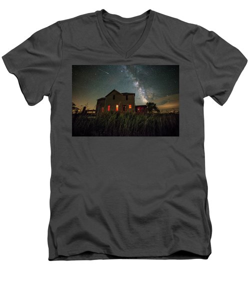 Men's V-Neck T-Shirt featuring the photograph Invasion by Aaron J Groen