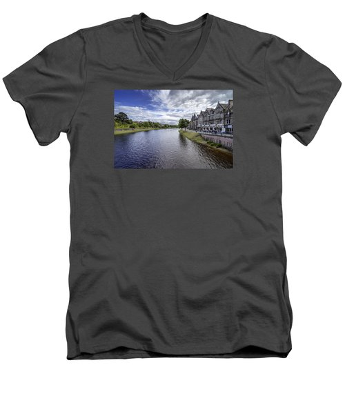 Men's V-Neck T-Shirt featuring the photograph Inverness by Jeremy Lavender Photography