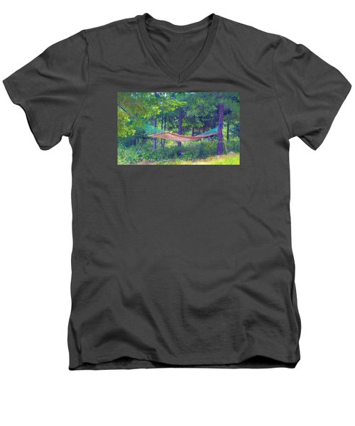 Men's V-Neck T-Shirt featuring the photograph Invitation Only by Susan Crossman Buscho