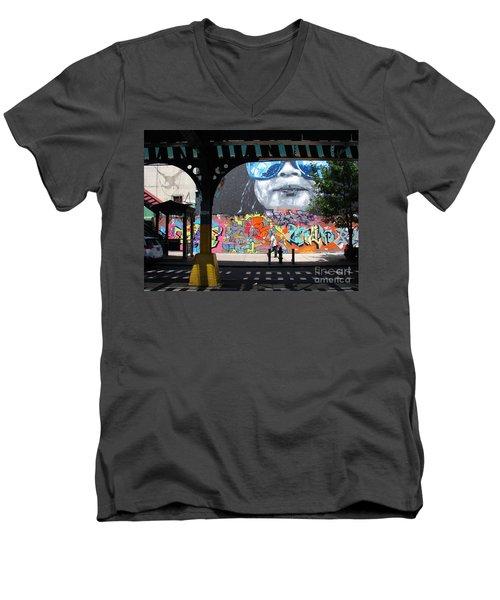 Inwood Street Art  Men's V-Neck T-Shirt