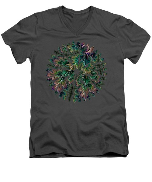 Iridescent Feathers Men's V-Neck T-Shirt