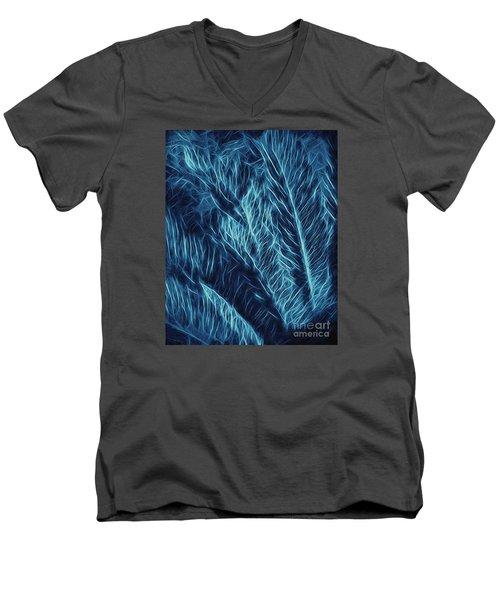 Iridescent Fern In Oil Men's V-Neck T-Shirt