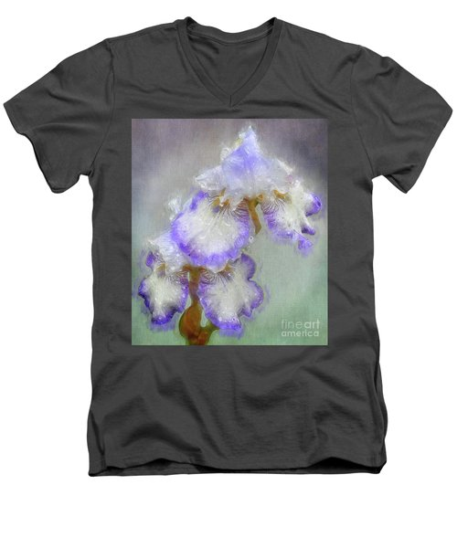 Iris After The Rain Men's V-Neck T-Shirt by Suzanne Handel