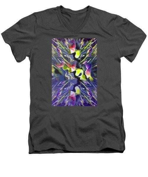Iris Bursts Men's V-Neck T-Shirt by Tina M Wenger