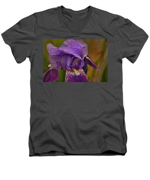 Iris Popping Out Men's V-Neck T-Shirt by Rick Friedle