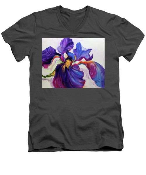 Iris Serenity Men's V-Neck T-Shirt