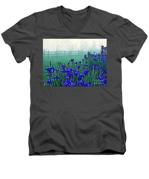 Irises At Dawn 3 Men's V-Neck T-Shirt