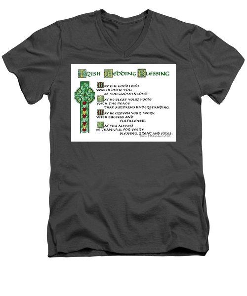 Irish Celtic Wedding Blessing Men's V-Neck T-Shirt