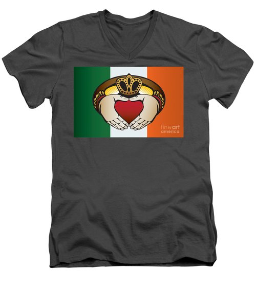 Irish Claddagh Art Men's V-Neck T-Shirt