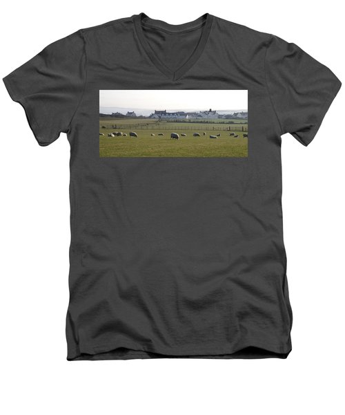 Irish Sheep Farm Men's V-Neck T-Shirt
