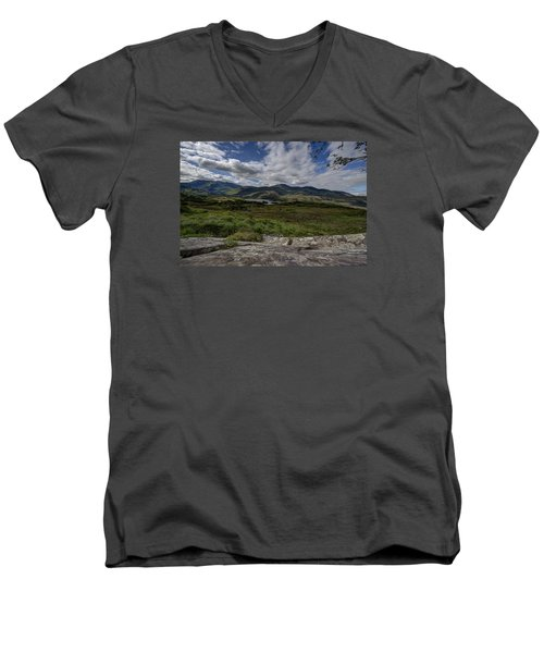 Irish Sky - Wicklow Mountains Men's V-Neck T-Shirt