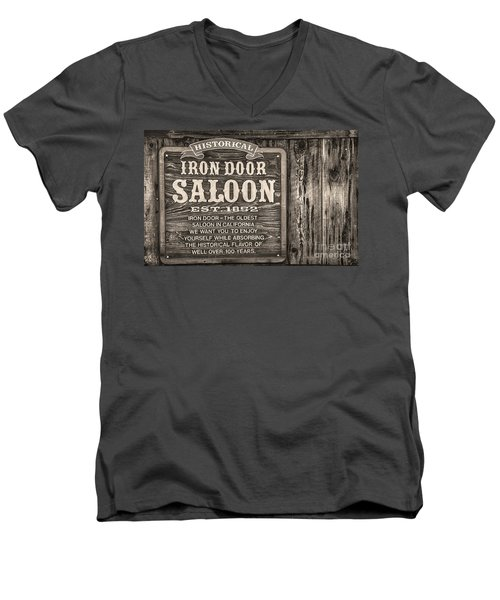 Iron Door Saloon 1852 Men's V-Neck T-Shirt