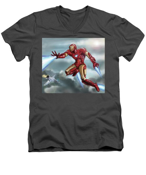 Iron Man Men's V-Neck T-Shirt
