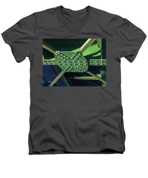 Iron Rail Bridge Men's V-Neck T-Shirt