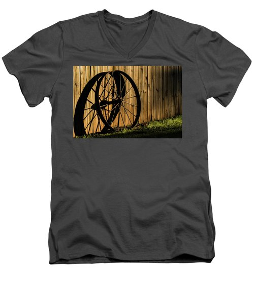 Iron Wheel Men's V-Neck T-Shirt