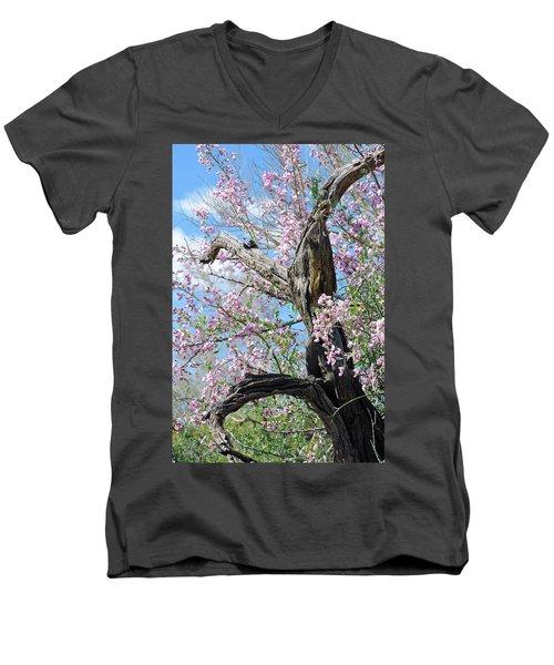 Ironwood In Bloom Men's V-Neck T-Shirt